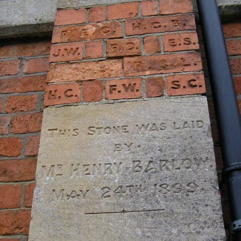 Rothwell, Market Hill Wesleyan Chapel, chapel foundation stone and initialled bricks (i) ,  28.4.2018