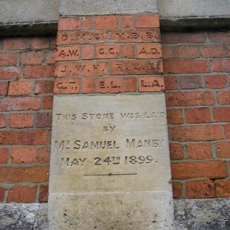 Rothwell, Market Hill Wesleyan Chapel, chapel foundation stone and initialled bricks (vi) , 28.4.2018