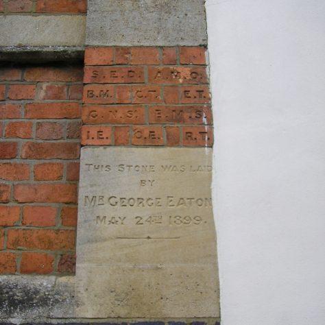 Rothwell, Market Hill Wesleyan Chapel, chapel foundation stone and initialled bricks (vii) , 28.4.2018