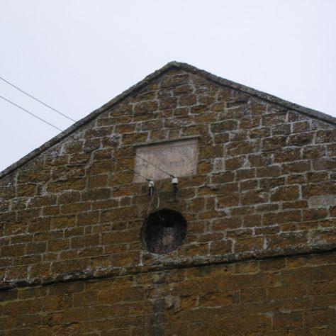 Rothwell, Well Lane Wesleyan Chapel, plaque on chapel facade,  28.4.2018