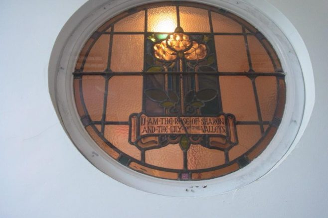 Stained glass from the former Hope Street Wesleyan chapel | Christopher Humble 2020