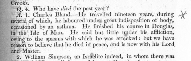 Obituary from the Minutes of the Wesleyan Methodist Conference 1804