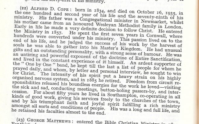 Obituary from the Minutes of the Methodist Conference 1936