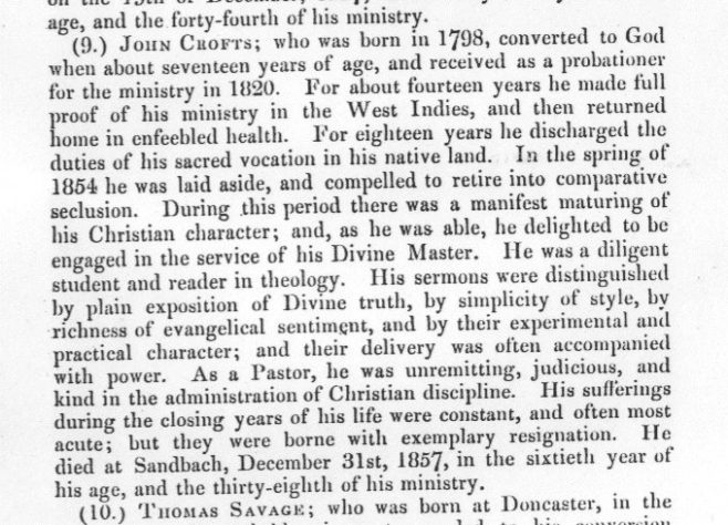 Obituary from the Minutes of the Wesleyan Methodist Conference 1858