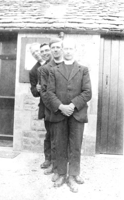 Four young ministers have fun, Mid-Gloucestershire Mission 1922