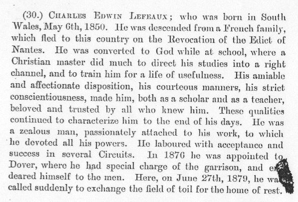 Obituary from the Minutes of the Wesleyan Methodist Conference 1879