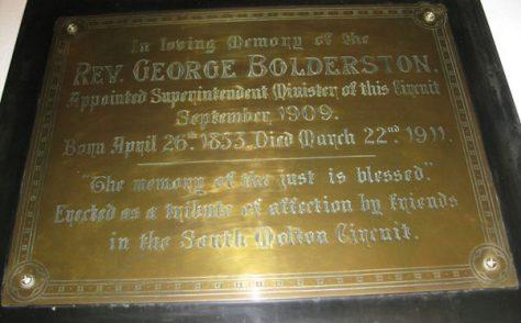Rev George Bolderston (1853-1911)