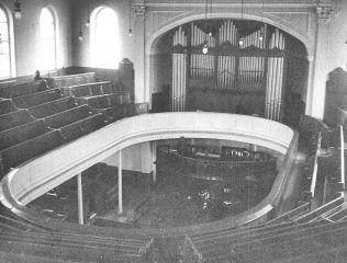 Interior of Brunswick Place WM, Newcastle on Tyne prior to alterations | Image from the collections of the Newcastle upon Tyne District Archives