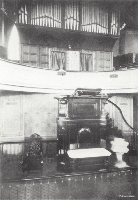 interior of Luton Chapel Street Wesleyan Methodist church | Englesea Brook collection: ENBPM:2020.118