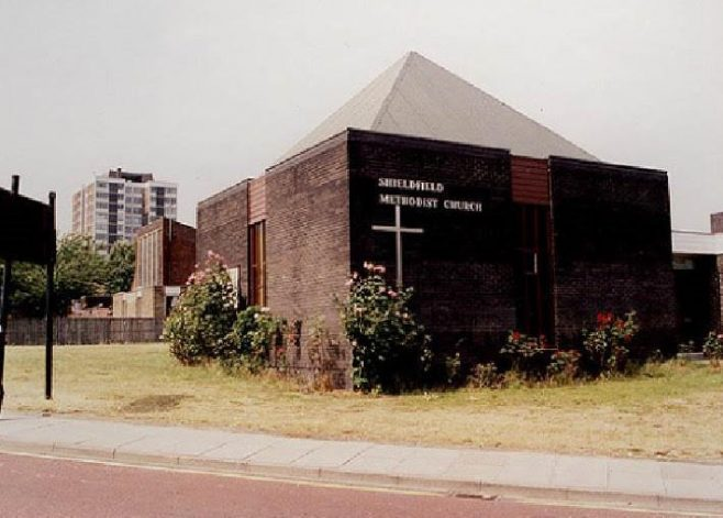 The church is now the home of the Holy Biscuit art gallery | Newcastle City Libraries