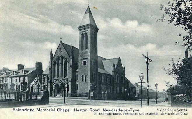 Postcard image of the church | Image from the collections of the Newcastle upon Tyne District Archives