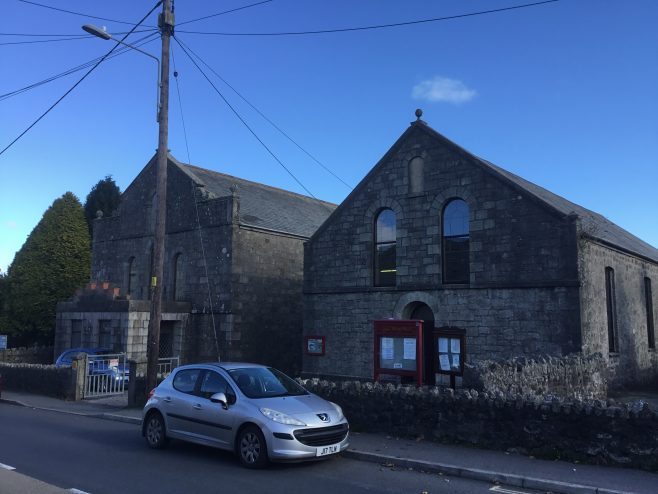 BUGLE Bible Christian Methodist Chapel and Sunday School Cornwall very active church