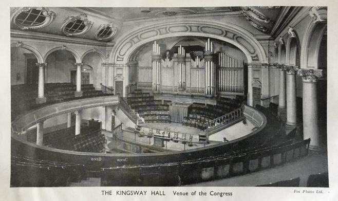 Interior of Kingsway Hall West London Mission Wesleyan Methodist Central Hall