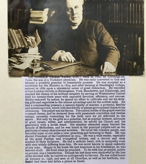 Rev DINSDALE YOUNG Wesleyan minister