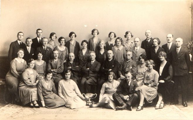 The church choir pictured after winning the North East Musical Tournament in 1930 for the fifth time | Image from the collections of the Newcastle upon Tyne District Archives