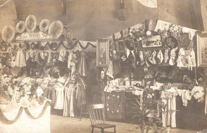 Bazaar held in 1891 to help reduce the debt on the building scheme | Image from the collections of the Newcastle upon Tyne District Archives