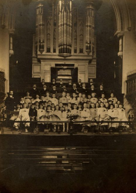 The Sunday School anniversary in 1910 | Image from the collections of the Newcastle upon Tyne District Archives