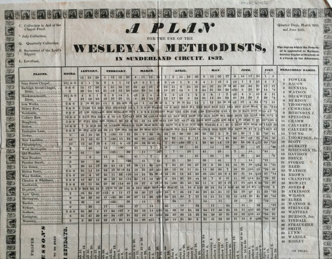 15 Jan - 8 July 1832 | From the collections of the Newcastle upon Tyne Methodist District Archives