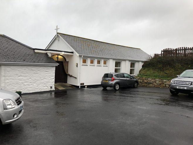 Porth Towan Cornwall 1970s replacement church