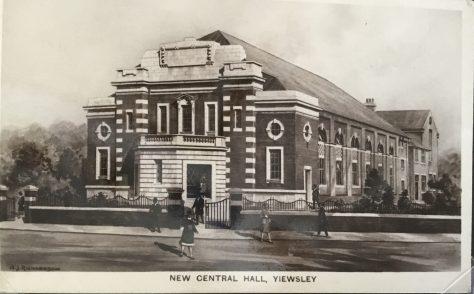 YIEWSLEY Wesleyan Methodist Central Hall, Fairfield Road  Fairfield Rd, Yiewsley, West Drayton, Middlesex 1927