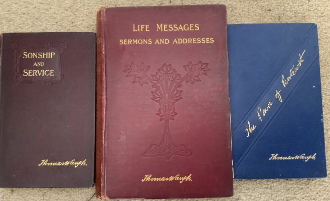 Some of the books published by Wesleyan evangelist Rev Thomas Waugh