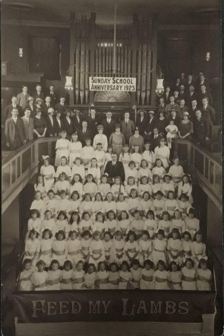 Lanehead Wesleyan Sunday School Anniversary platform 1924