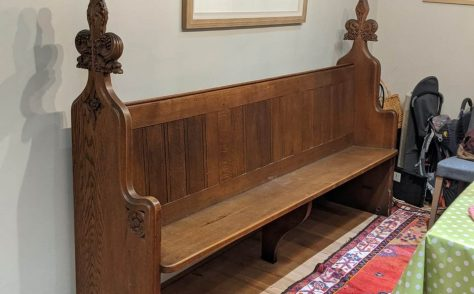 Can you help me unravel the history of this pew please?