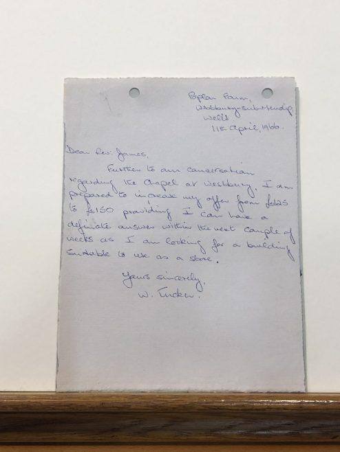 Letter of offer of sale