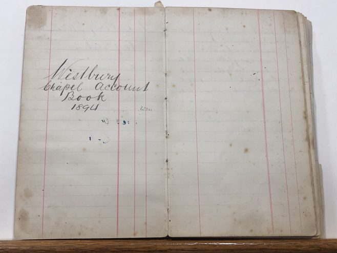 Chapel book of accounts  cover page