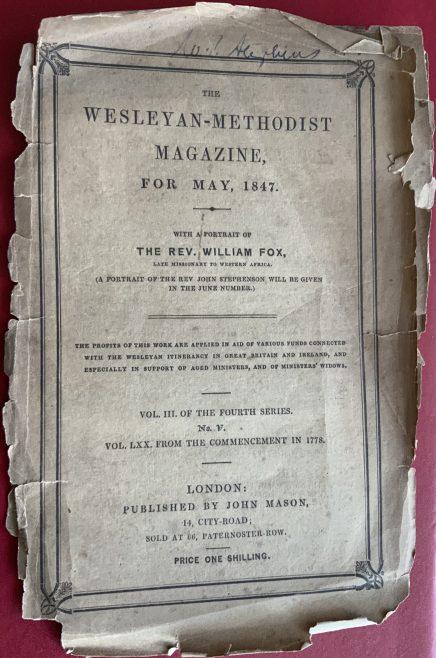 Wesleyan Methodist Magazine 1847 edition
