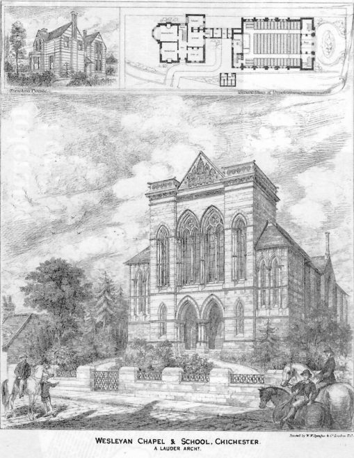 Chichester, Wesleyan Chapel and School | The Architect, 1875