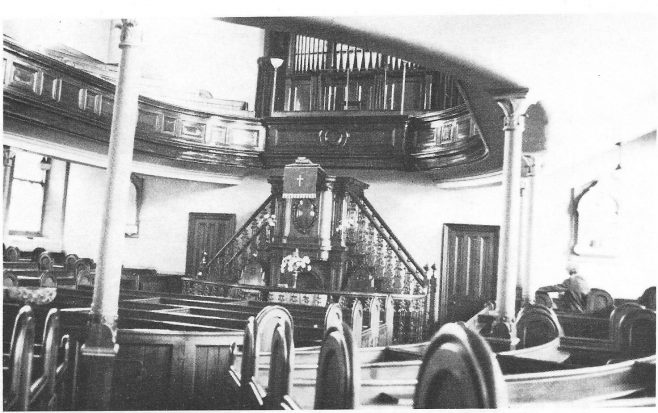 Interior view of the Eckington Wesleyan Methodist chapel  | With permission of the Eckington and District Preservation and Historical Society; from People and places of the Eckington District