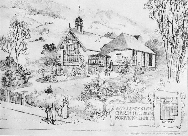 Fall Birch, Horwich, Wesleyan church   The Building News, 1904
