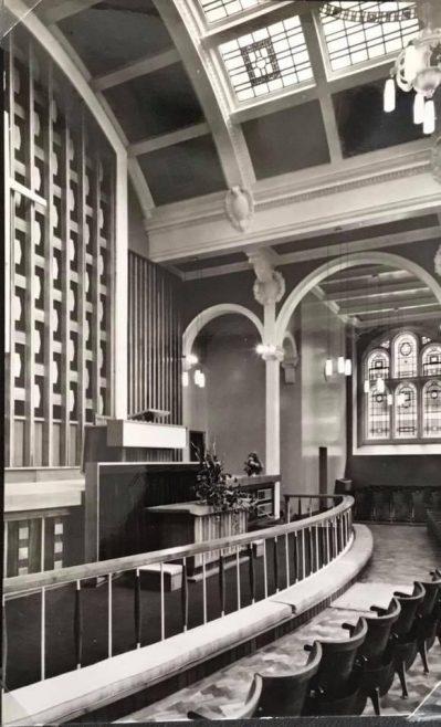 Victoria Wesleyan Methodist Central Hall Sheffield Modernisation completed 1960