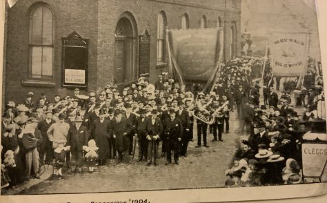 Whit Friday procession at Union Street Wesleyan Church Rochdale 1904