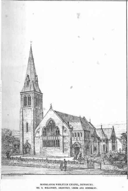 Moorland Wesleyan Chapel, Dewsbury   The British Architect and Northern Engineer, 1876