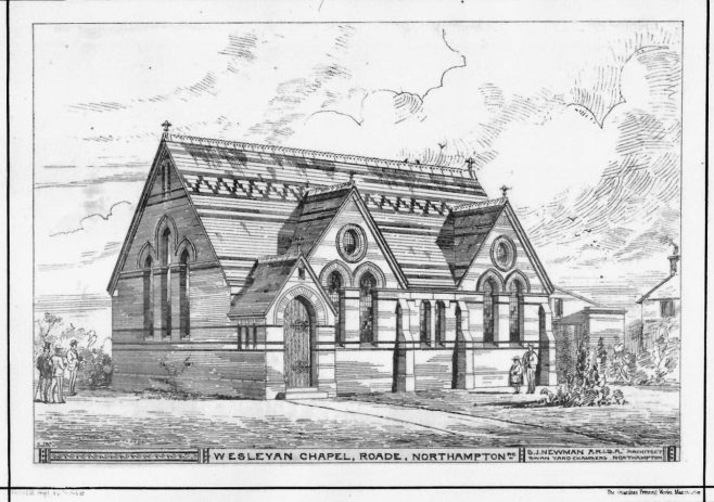 Roade Wesleyan Chapel: the 1876 building   The British Architect and Northern Engineer, 1876