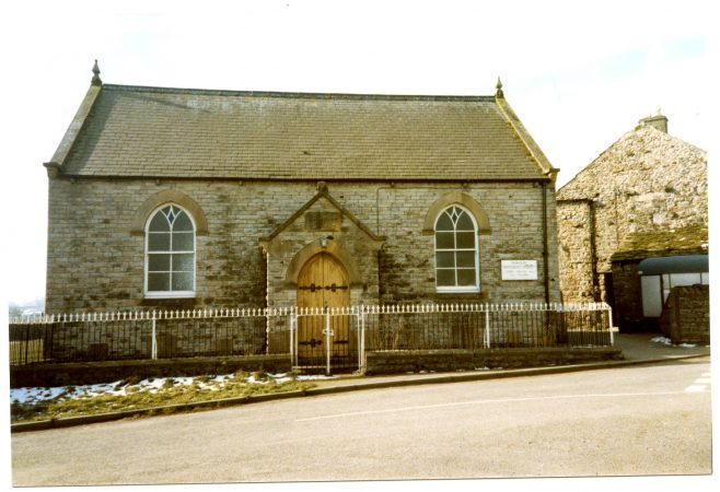 Thoralby Wesleyan Chapel in Mar 1987, just before closure | Ann Holubecki Collection: provided by Penny Ellis