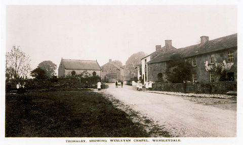 Thoralby showing the Wesleyan Chapel c.1908-13 | G.V. & A. Sadler: provided by Penny Ellis