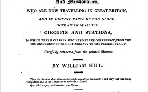 An Alphabetical Arrangement of all the Wesleyan Methodist Preachers and Missionaries 1819