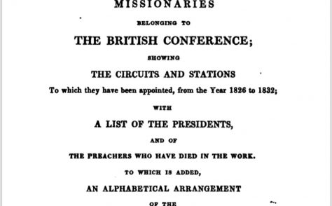 An Alphabetical Arrangement of all the Wesleyan-Methodist Preachers and Missionaries 1832