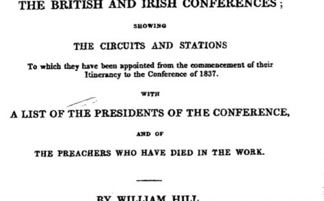 An Alphabetical Arrangement of all the Wesleyan-Methodist Preachers and Missionaries 1837