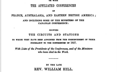 An Alphabetical Arrangement of all the Wesleyan-Methodist Ministers,  Missionaries and Preachers on trial…1857