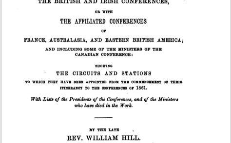 An Alphabetical Arrangement of all the Wesleyan-Methodist Ministers, Missionaries and Preachers on trial…1861