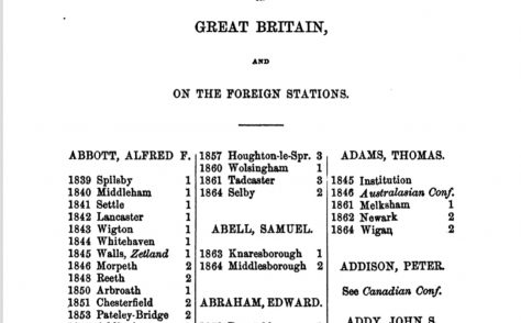 An Alphabetical Arrangement of all the Wesleyan-Methodist Ministers, Missionaries and Preachers on trial…1865