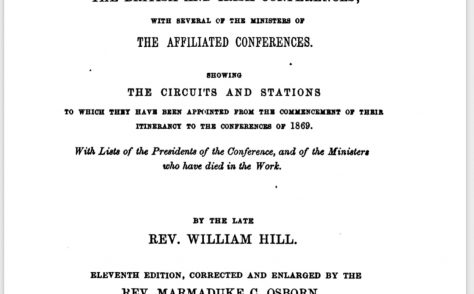 An Alphabetical Arrangement of all the Wesleyan-Methodist Ministers and Preachers on trial … 1869