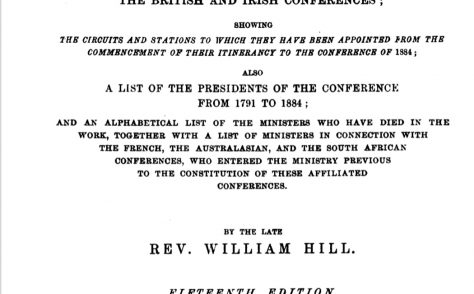 An Alphabetical Arrangement of all the Wesleyan-Methodist Ministers, and Preachers on trial …1884