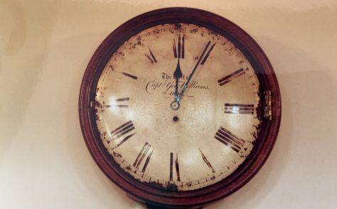 St Ives Wesleyan Church Cornwall  Vestry clock