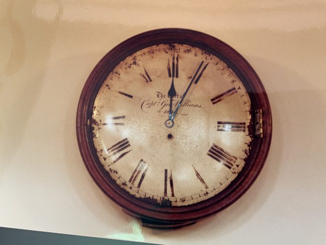 St Ives Wesleyan Church Cornwall  Vestry clock gift of Capt George Williams 1849