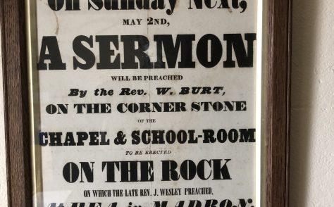 Wesley Rock former Wesleyan Chapel, Heamoor near Penzance Cornwall Poster